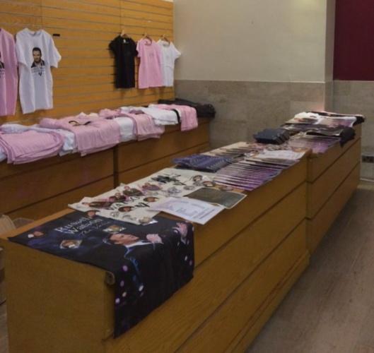RW Merchandise Stall at Glasgow C