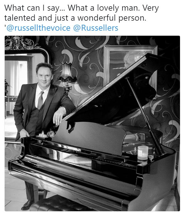 Capture - Loz Taylor's photo of Russell leaning on the piano