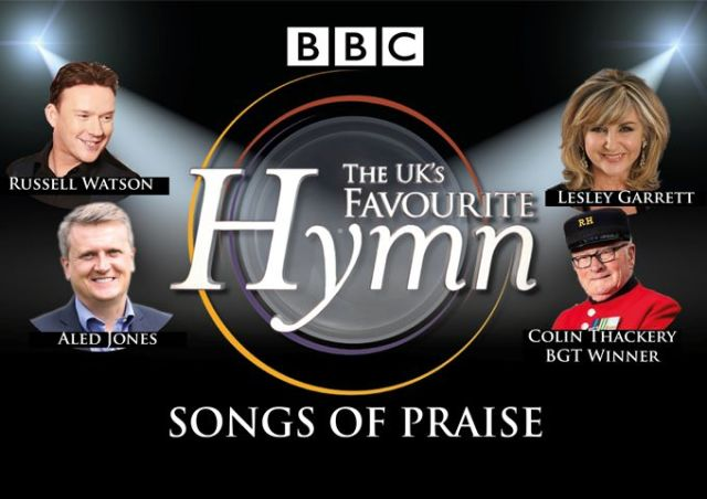BBC Songs Of Praise Nation's favourite Hymn poste for theatre recording